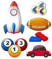 Différents types de jouets vecteur