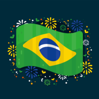 Vecteur Drapeau Brésil