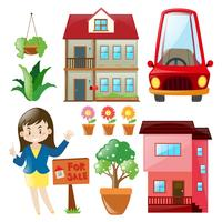 Agent immobilier et immeubles