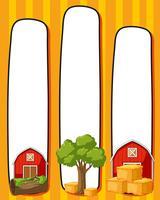 Modèle de bordure avec des granges rouges vecteur