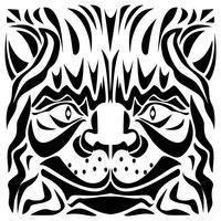 Illustration vectorielle de tête de chat d'ornement vecteur