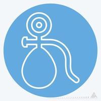 Icône vecteur de tensiomètre - style yeux bleus
