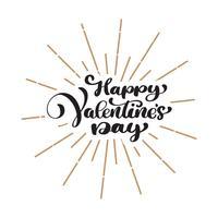 Affiche de typographie Happy Valentines Day vecteur