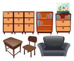 Différents types de meubles vecteur