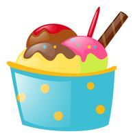 Crème glacée dans une tasse en papier