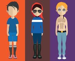 Avatar de personnes avec variations du corps et du torse vecteur