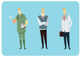Vecteur de style de robe du médecin