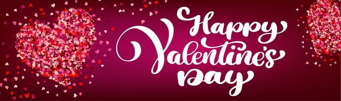 Texte, lettrage, bannières, saint valentin