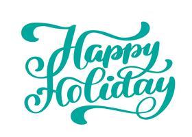 Joyeuses fêtes texte dessiné à la main vecteur