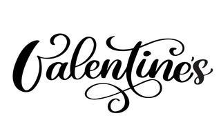 Typographie Saint Valentin vecteur