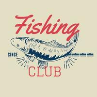illustration vectorielle de badge vintage pêche vecteur