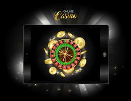 Bannière de conception de casino en ligne.