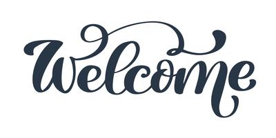Bienvenue texte dessiné à la main