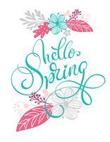 Bonjour main de printemps