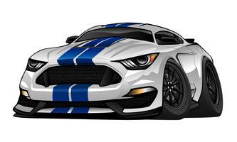 Illustration de vecteur de dessin animé moderne américain Muscle Car