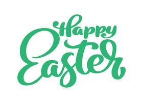 Calligraphie de Pâques Joyeux dessiné main et lettrage stylo pinceau vecteur