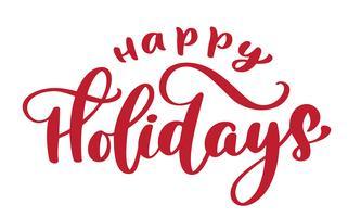 Joyeuses fêtes texte dessiné à la main
