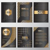 Modèle de conception de style bannière flyer or