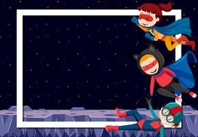 Super-héros à la frontière vierge