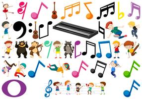 Ensemble d'éléments musicaux