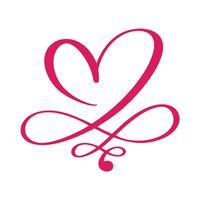 Coeur amour signe pour toujours pour Happy Valentines Day. Symbole Infinity romantique lié, rejoindre, passion et mariage. Modèle de t-shirt, carte, affiche. Élément plat design. Illustration vectorielle
