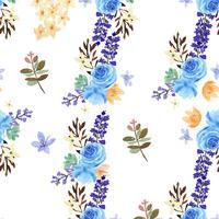 Modèle vintage textile style floral aquarelle luxuriante sans soudure, aquarelle fleurs isolé sur fond blanc. Décor de fleurs design pour carte, faites gagner la date, cartes d'invitation de mariage, affiches, bannières.