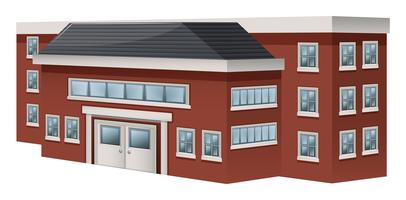 Conception de bâtiments pour l'école vecteur