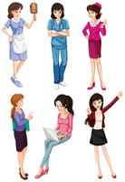 Mesdames avec différentes professions