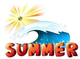 Une oeuvre d'art d'été