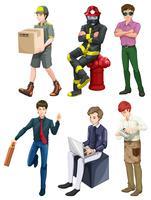 Hommes de différentes professions vecteur