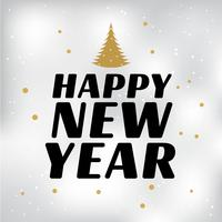 Bonne année fond vecteur fond
