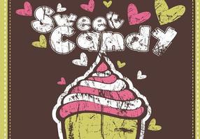 Pack de papier peint de vecteur Grungy Sweet Candy Vector