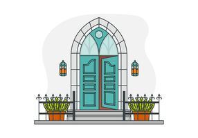 Des portes vecteur