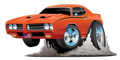 Illustration vectorielle de classique American Muscle Car Cartoon
