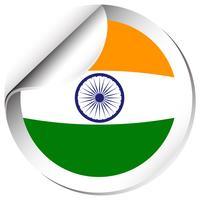 Conception d'autocollant pour le drapeau de l'Inde vecteur