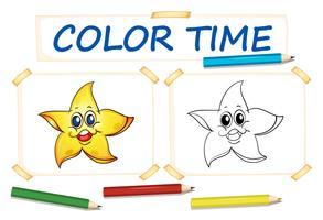 Modèle de coloration avec bonne étoile