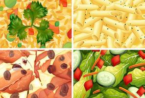 Close Up Collection de nourriture saine