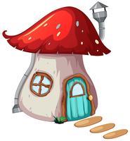 Une conception de la maison magique de champignon vecteur
