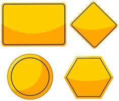 Différents modèles pour les panneaux jaunes vecteur