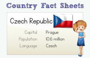 Fiche documentaire de la République tchèque vecteur