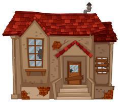Maison en brique en mauvais état