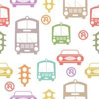 Motif de voitures sans soudure répétant fond de toile de fond