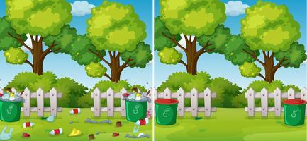 Une comparaison de Clean and Dirty Park vecteur