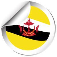 Création d'autocollant pour le drapeau du Brunei vecteur