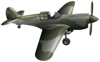 Avion de combat sur fond blanc