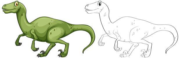 Contour animal pour dinosaure T-Rex vecteur