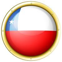 Drapeau du Chili sur l'insigne rond vecteur