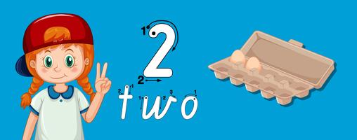 Guide d'écriture numéro deux vecteur
