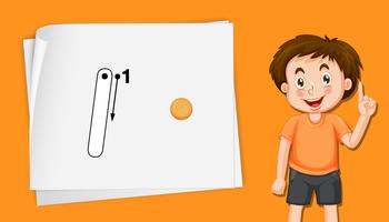 Numéro cinq feuilles de calcul alphabet de suivi