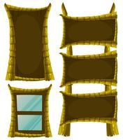 Différents modèles de cadre en bois